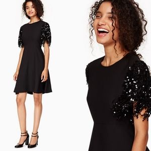 NWT Kate Spade Black Sequin Party Dress